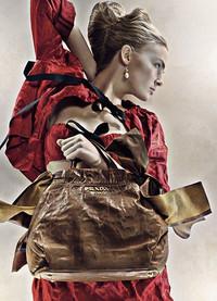 简洁经典 Prada09春夏手袋