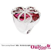 Dior花朵水晶多元戒指的魅惑