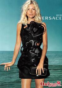 凯特莫斯领衔 Versace 09春夏大片