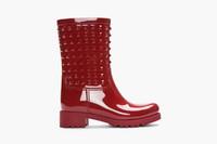 Valentino 铆钉雨靴 用尽小心机雨天也时尚