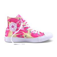 匡威2014新款粉色印花帆布鞋 限量版