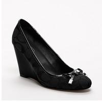 COACH ORCHARD坡跟鞋