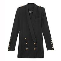 巴尔曼双排扣长款西装外套