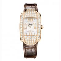 萧邦La Strada系列玫瑰金钻石腕表