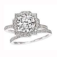 海瑞温斯顿订婚 结婚戒指