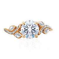 戴比尔斯单颗美钻订婚戒指 钻戒
