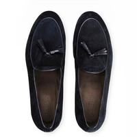 阿玛尼男士流苏麂皮莫卡辛鞋