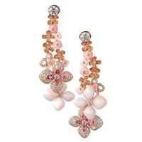尚美Hortensia绣球花系列玫瑰金耳环