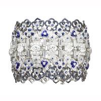 尚美Hortensia绣球花系列蓝宝石白金手链