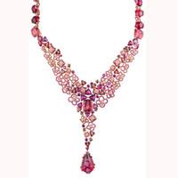 尚美Hortensia绣球花系列玫瑰金项链