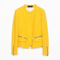Zara2014新品女装梦幻布料外套