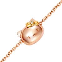 周大福Hello Kitty 18K金镶钻石手链