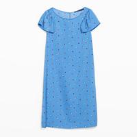 Zara2014新品女装卷边袖连衣裙
