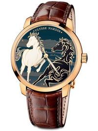 2014迎马年 雅典推出鎏金骐骥腕表