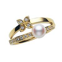 御本木Mikimoto珍珠钻石戒指