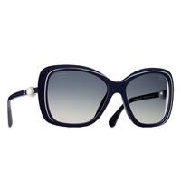 香奈儿2014最新款珍珠方形树脂太阳镜