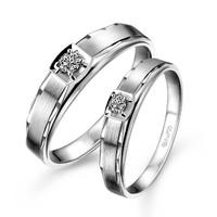 六福珠宝 婚嫁系列18K金钻石结婚对戒