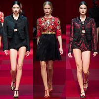 西班牙舞娘红灿灿 Dolce&Gabbana 2015春夏