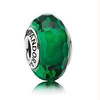 Pandora 绿色琉璃珠圆珠吊饰