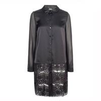 ONLY2014秋季女装 雪纺拼接蕾丝衬衫