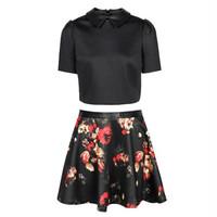 ONLY2014秋季女装 彼得潘领两件套裙子