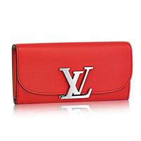 LV Vivienne红色长款钱夹