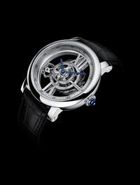 Cartier凌空旋转-天体运转式陀飞轮镂空腕表
