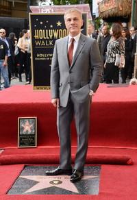 克里斯托弗·瓦尔兹身着Prada参加好莱坞星光大道留名仪式
