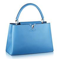 路易威登LV新款 蓝色CAPUCINES中号手袋