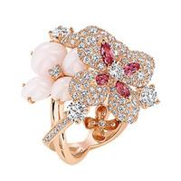 尚美(Chaumet)Hortensia玫瑰金戒指