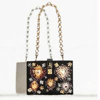 Dolce&Gabbana 2015春夏新品 钉珠手拿包