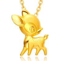 周大福 小鹿斑比黄金千足金吊坠