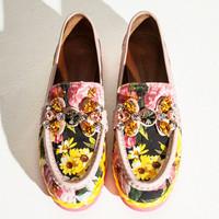 Dolce&Gabbana 牡丹印花休闲鞋
