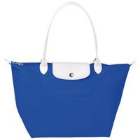 珑骧Longchamp 蓝色尼龙折叠购物袋