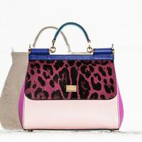 Dolce&Gabbana DAUPHINE限量版豹纹包手提包