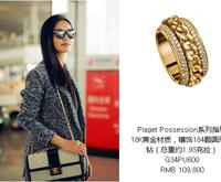 姚晨佩戴Piaget Possession黄金钻石戒指现身机场 征战巴黎时装周