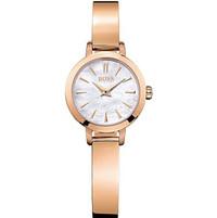 BOSS 典雅玫瑰金色不锈钢腕表