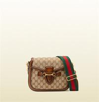 Gucci lady web帆布GG面料肩背包