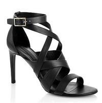 BOSS 罗马式绑带设计高跟凉鞋