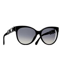 香奈儿Chanel  2015春夏 蝴蝶形珍珠太阳眼镜