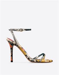 Valentino 2015春夏MIME系列印花牛皮凉鞋