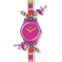 Swatch 彩色立体装饰手表