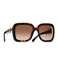 香奈儿Chanel 2015春夏 方形珍珠太阳眼镜