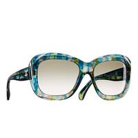 香奈儿Chanel 2015春夏 超大号斜纹软呢效果方形眼镜