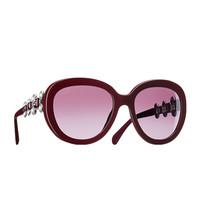 香奈儿Chanel 2015春夏 椭圆形珍珠水钻太阳眼镜