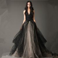 王薇薇 Josephine 渐变黑色婚纱