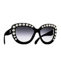 香奈儿Chanel 2015秀场款蝴蝶形珍珠太阳眼镜
