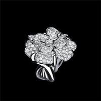 香奈儿 CAMéLIA系列白18K金戒指