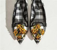 杜嘉班纳 2015夏 格纹网状露脚面鞋