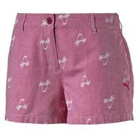彪马 女士椰树图案短裤